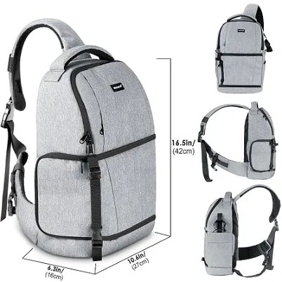 DSLR Sling Camera Backpack Bag 7