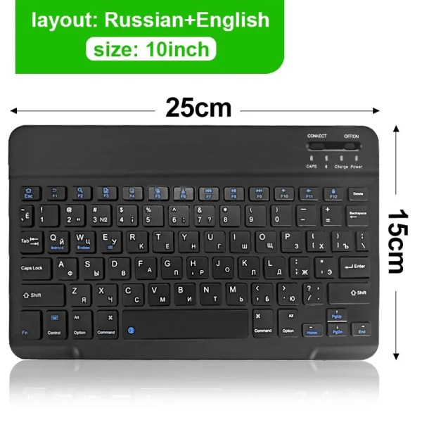 Mini Wireless Bluetooth Rechargeable Keyboard 10