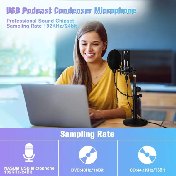 Felby USB Podcasting Condenser Microphone 3