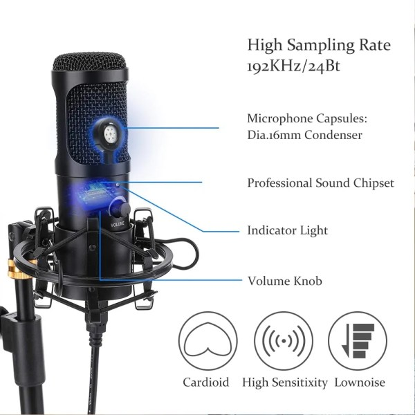 Felby USB Podcasting Condenser Microphone 5