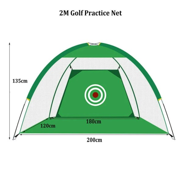Indoor Outdoor Foldable Golf Practice Net Golf Hitting Cage Garden Grassland Practice Tent 1m /2m Golf Training Aids