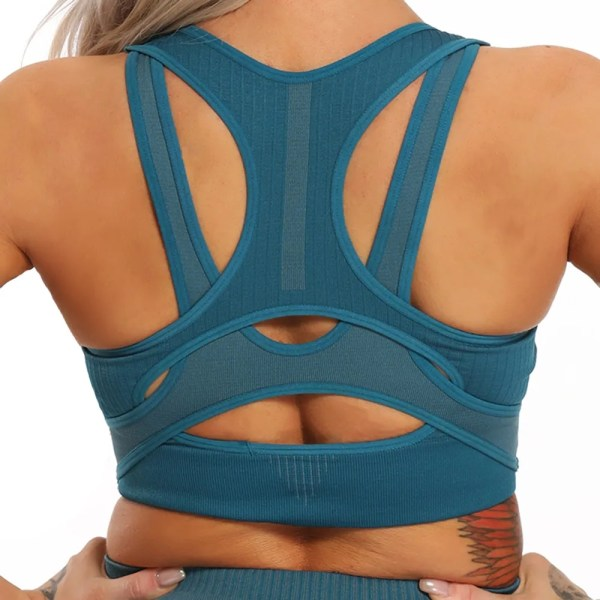 Yoga Top Women's Sports Shirts Fitness Gym Top Seamless Sports Bra Push Up Workout Running Cross Sleeveless Woman Shirt