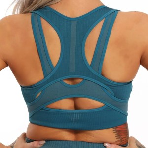 Women Top Seamless Push Up Sports Bra