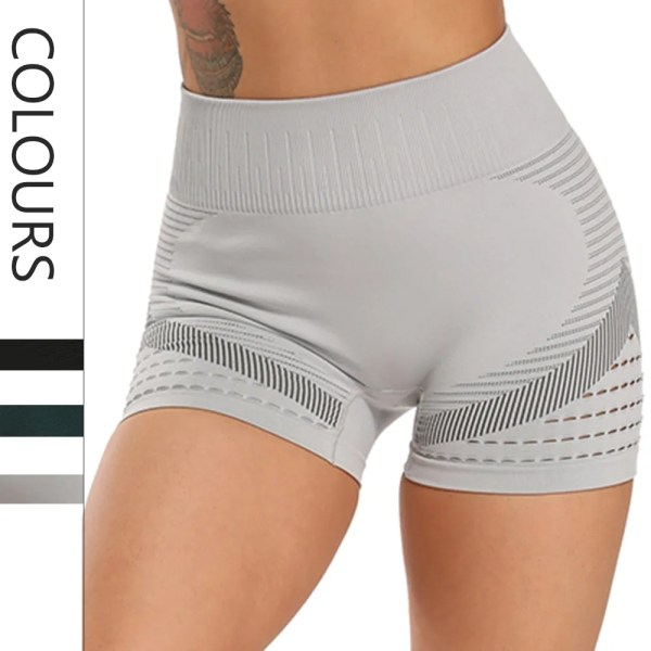 CROSS1946 Seamless Gym Shorts Women High Waist Wicking Jogging Trousers Fitness Running Active Shorts Workout Clothes for Women