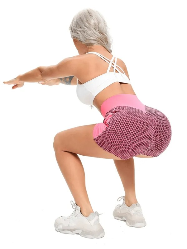 Women Mesh Push Up Gym Shorts 9