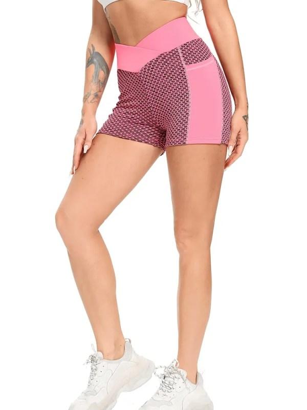 Women Mesh Push Up Gym Shorts 13