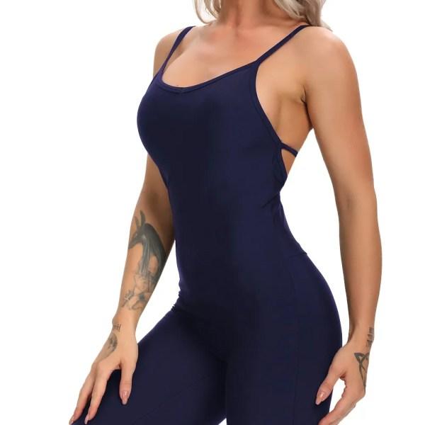 Women Backless Workout Jumpsuit