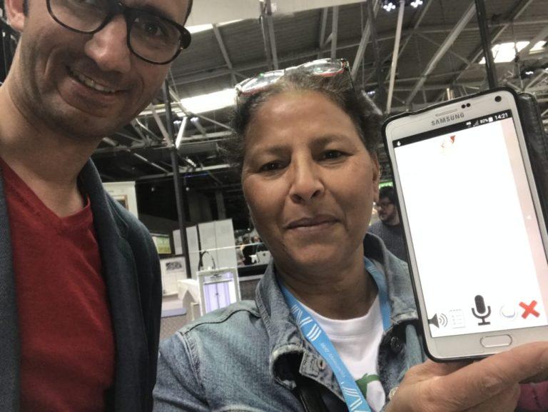 Avec la première utilisatrice de SourdMuChat