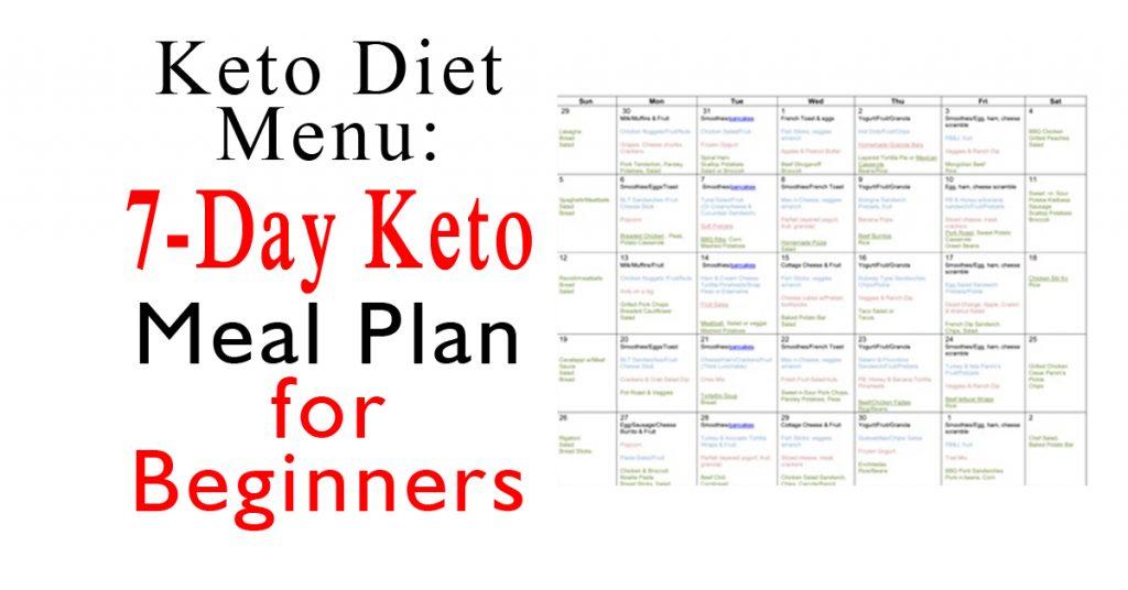 Keto Diet Menu 7 Day Keto Meal Plan For Beginners