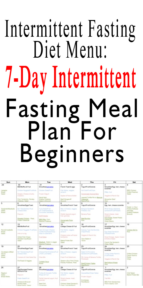 7-Day Intermittent Fasting Meal Plan For Beginners ...