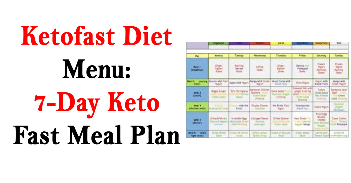 Ketofast Diet Menu: 7-Day KetoFast Meal Plan