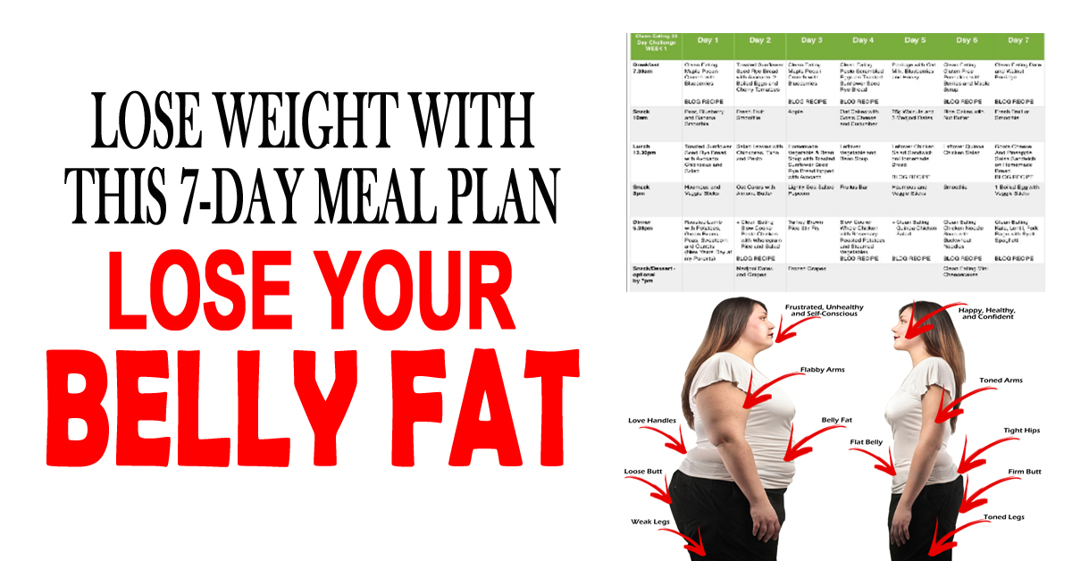Lose Weight With This 7-Day Meal Plan: Lose Belly Fat
