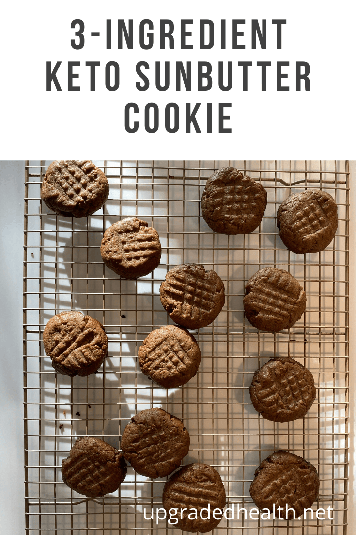 3-Ingredient Keto Sunbutter Cookies