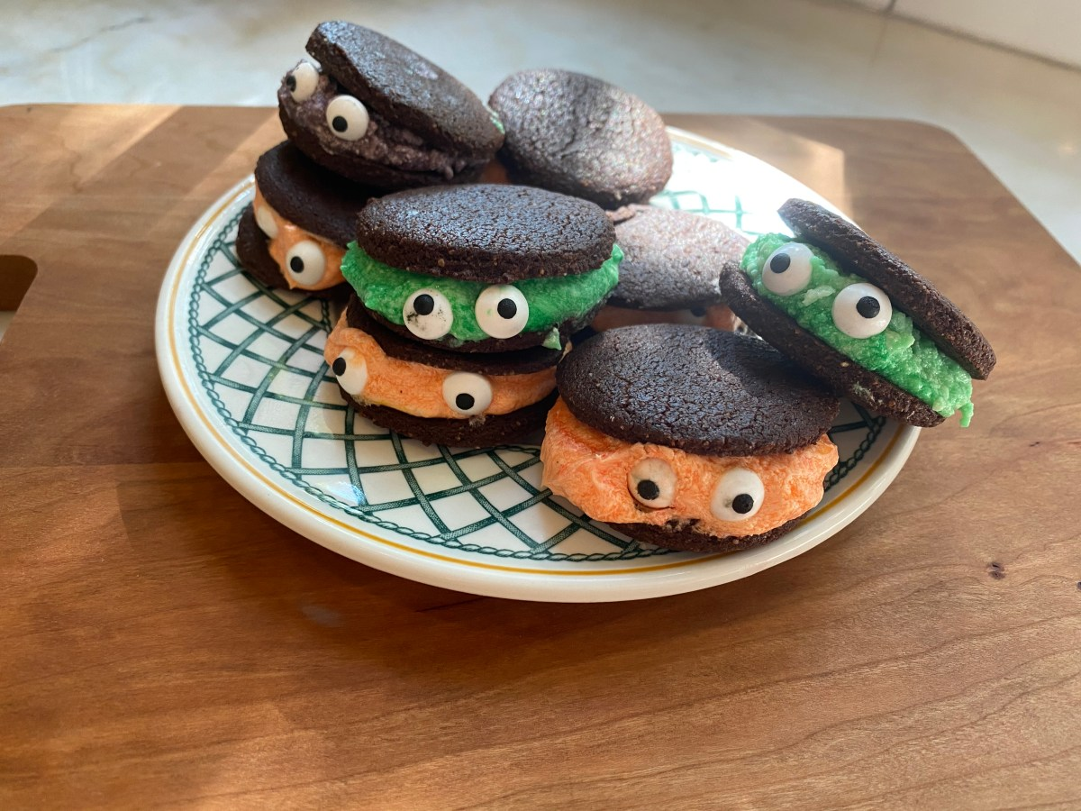 Gluten-Free Halloween Monster Whoopie Pies