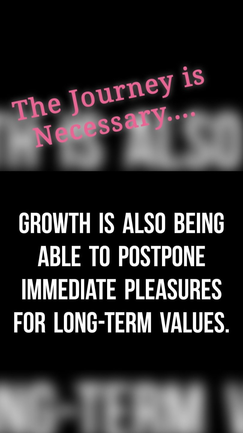 The Journey is Necessary....