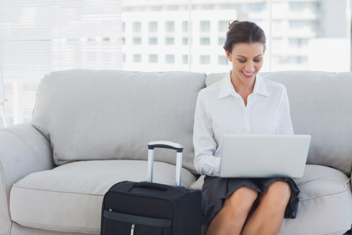 Business Traveling Woman