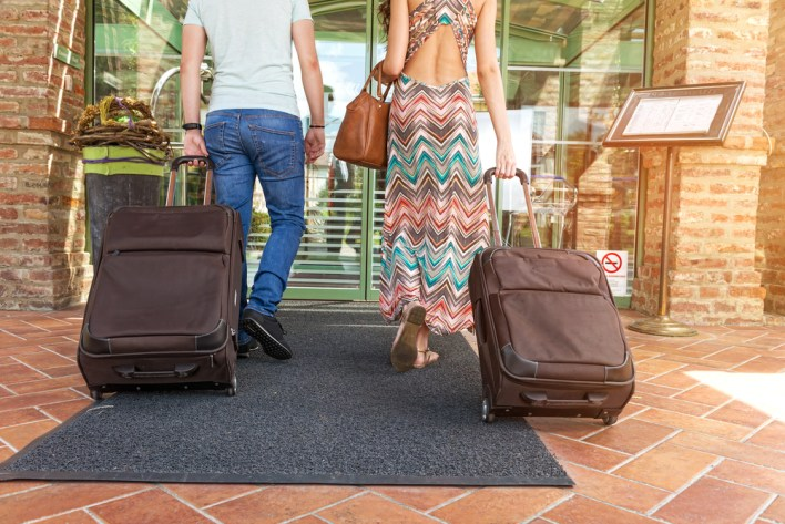 Couple Entering Hotel