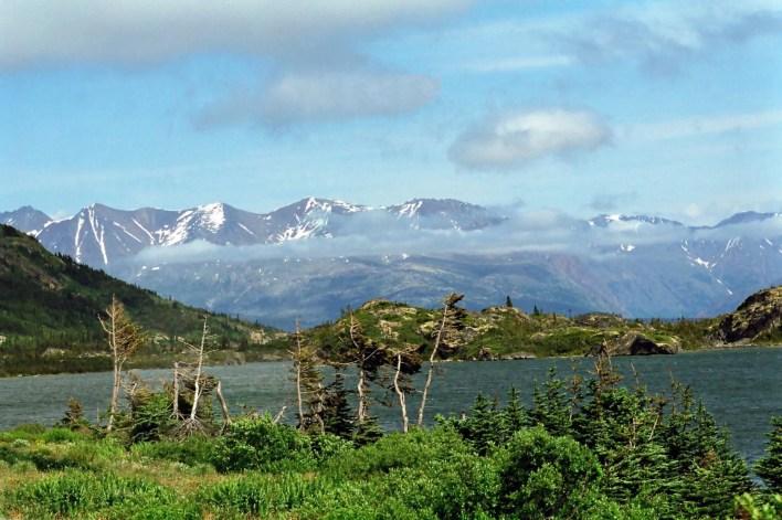 Klondike Highway and White Pass and Yukon Route Railroad Lake View
