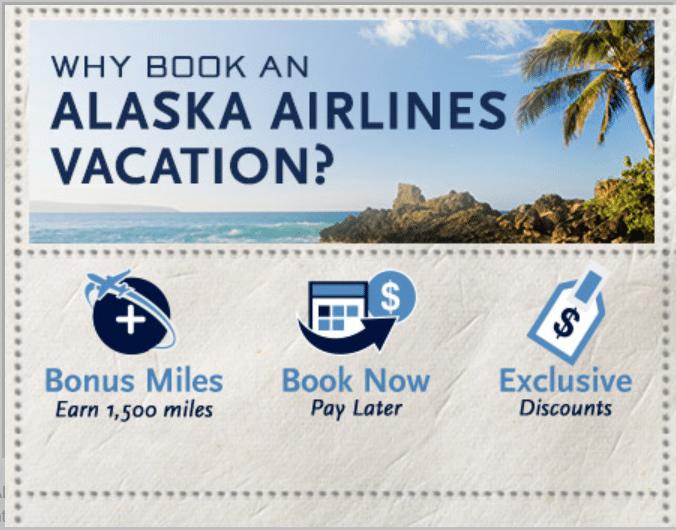 alaska airlines vacation package bonus miles