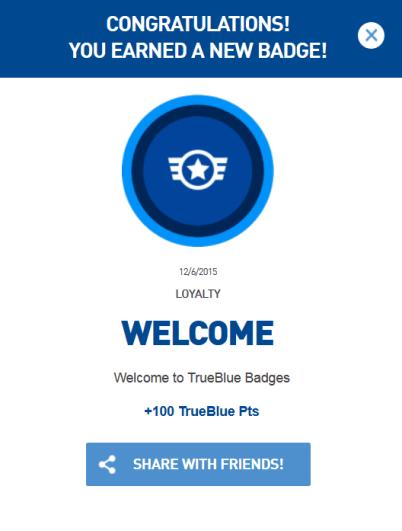 jetblue trueblue badges