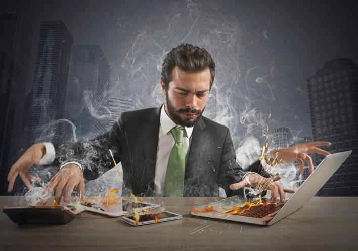 Busy Entrepreneur Working