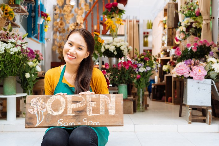 Girl Opening a Business