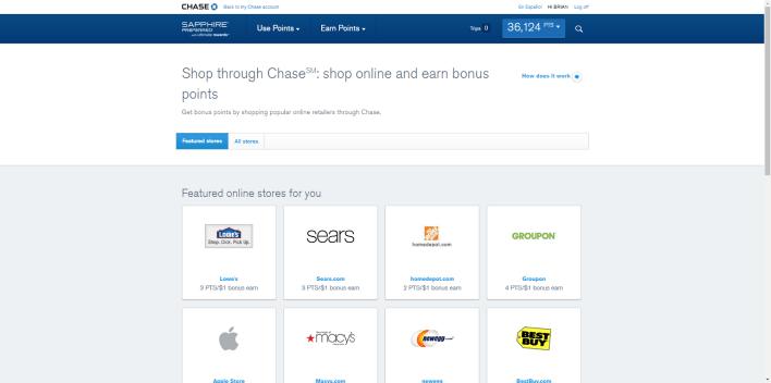 chase shopping portal