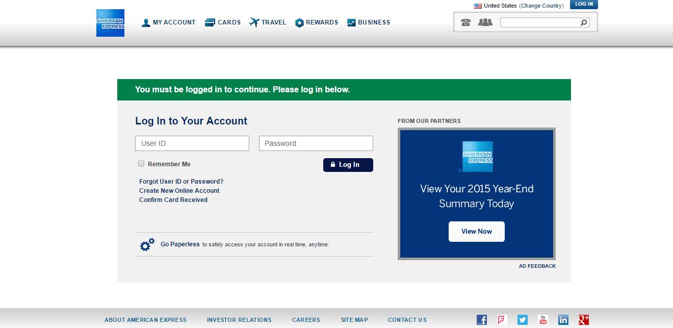 American Express Serve Login. Amex Mobile Screenshot With American ...
