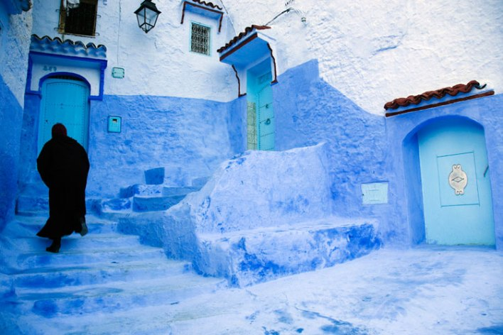 Visit Chefchaouen in Morocco for the same number of miles as going to Europe with KLM/Air France Flying Blue. Image courtesy of lonelyplanet.com