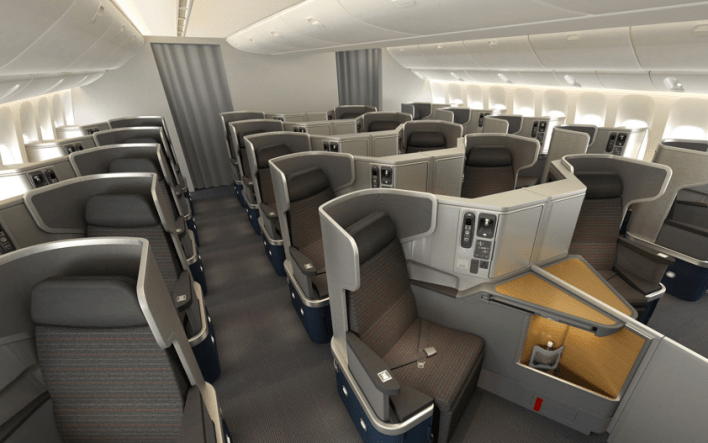 American Airlines business class B777