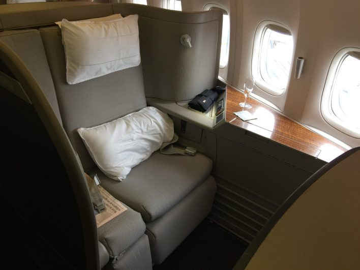 cathay pacific first class 777 seat