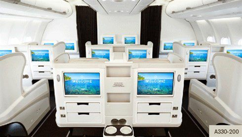 fiji airways business class cabin