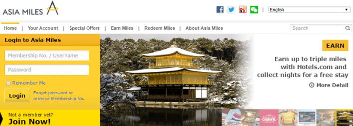 Cathay Pacific Asia Miles Program