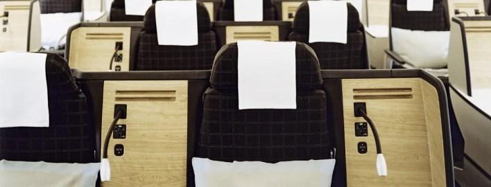 Swiss Air business class flight