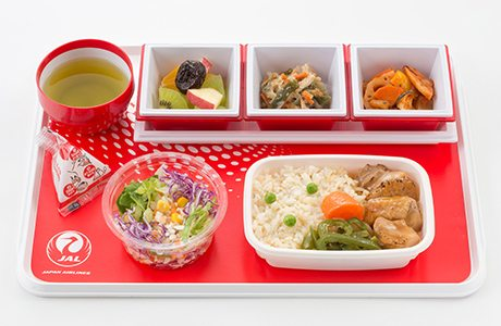 JAL Economy Class Meal