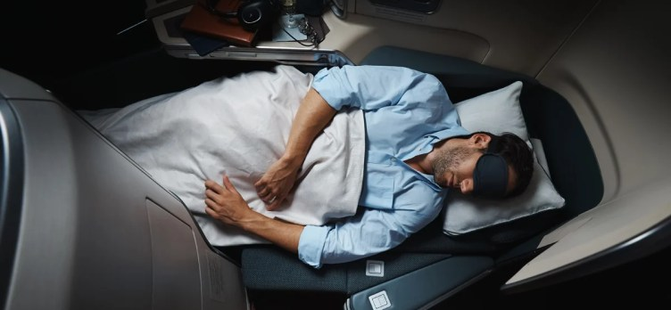 Cathay Pacific Business Class Bed