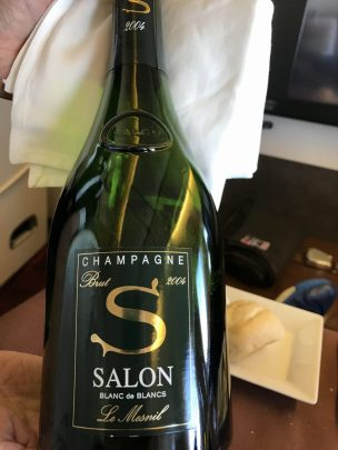 JAL First Class Champagne