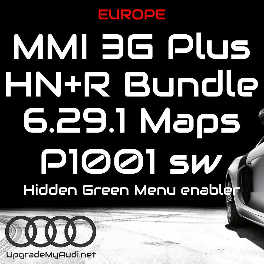 Audi MMI 3GP HN+R / 3G Plus / Bundle - Latest Maps & Firmware  6 29 1 &  P1001 - Europe!