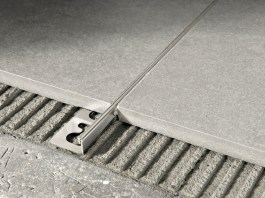 PROTERMINAL Brushed steel Flooring joint - PROGRESS PROFILES