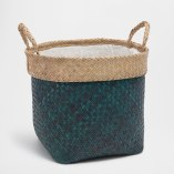 Tips and tricks for perfect bedroom: ZARA HOME LARGE BLUE BASKET WITH HANDLES | upgradesign