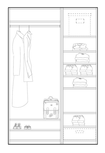 Home renovation in four steps - step four: wardrobe design example | upgradesign