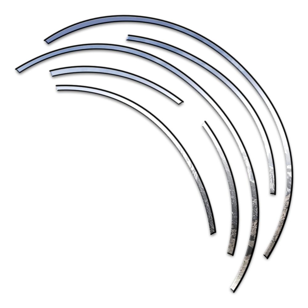 6p Stainless Steel Fender Trim w/3M fits 2003-2007 Saturn