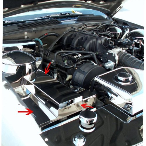small resolution of details about acc fuse box cover fits 2005 2009 ford mustang v6 gt stainless steel polished