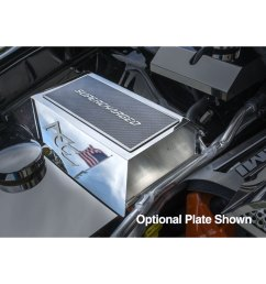 acc fuse box cover fits 2015 2017 dodge charger hellcat stainless steel polished [ 1000 x 1000 Pixel ]