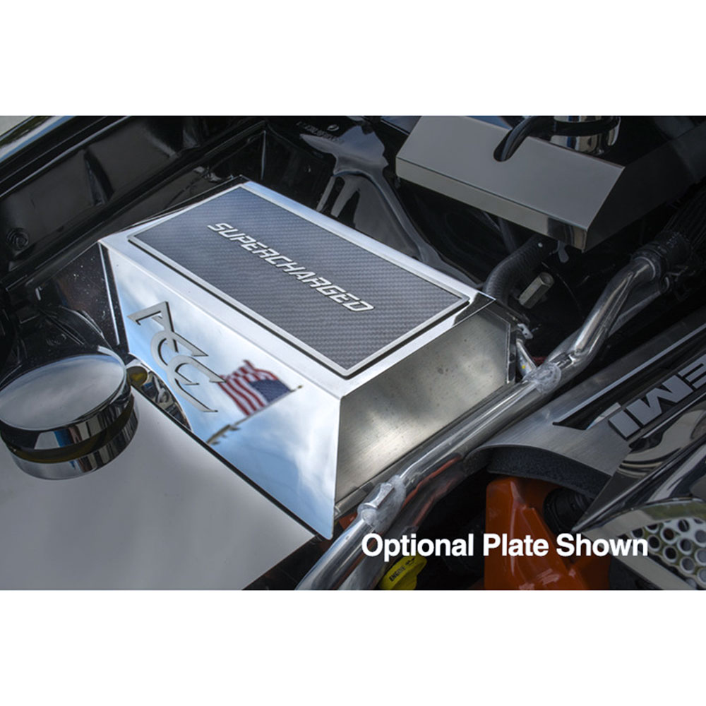 hight resolution of acc fuse box cover fits 2015 2017 dodge charger hellcat stainless steel polished