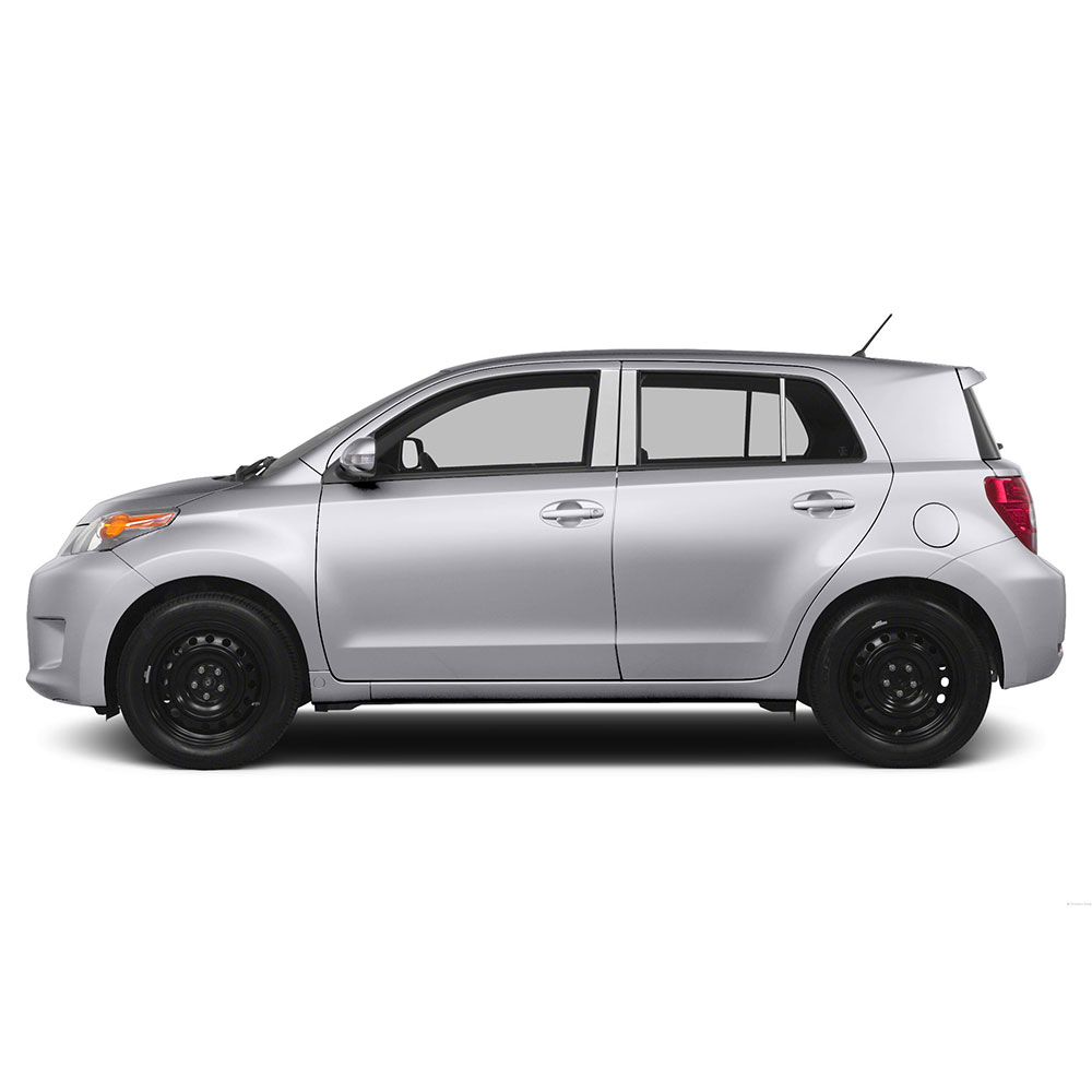 hight resolution of diamond grade 6pc stainless steel pillar post covers for 2008 2014 scion xd