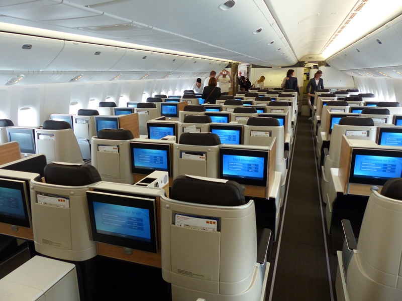 SWISS Business Class in der Boeing 777-300ER