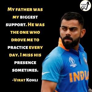 Virat Kohli on his dad