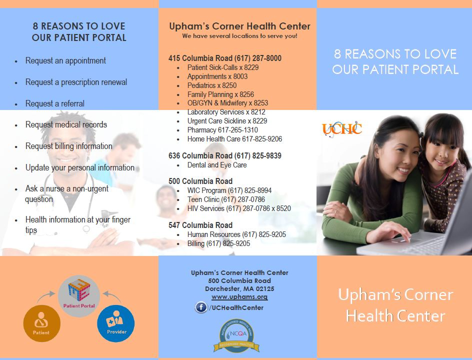 Uphams' Corner Health Center Patient Portal Help