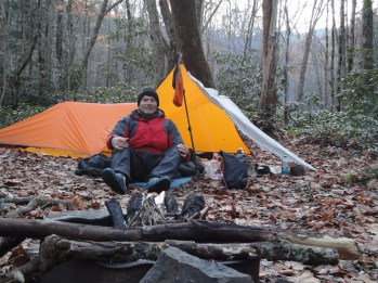 Getting ready for 2nd night at Rough Creek Campsite 24